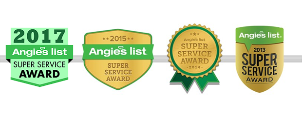 Celebrating our 30th year in business with yet another Angie's List Super Service Award.